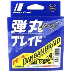 MajorCraft Dagan Braid x4 0.8 (0.12mm) 6.1kg 150m Multicolor