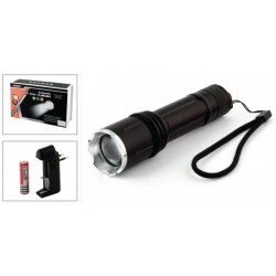 Pocket flashlight CREE LED (diods: 1, power source: 3 x AAA + charger)