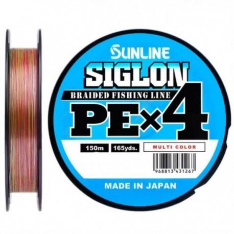 Sunline Siglon PE X4 150m(5C) Multicolor _1,0(0,171mm)/16LB(7,70kg)