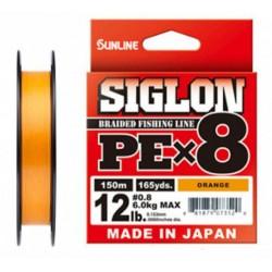 Sunline Siglon PE X8 150m(OR) _0,4(0.108mm)/6LB(2.90kg)