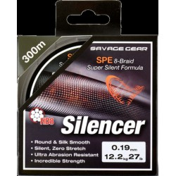 SG HD8 Silencer Braid 120m 0.12mm 6.3kg Green