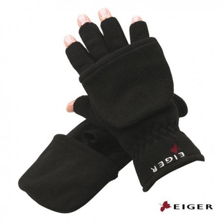 Eiger Fleece Gloves Combi Black L