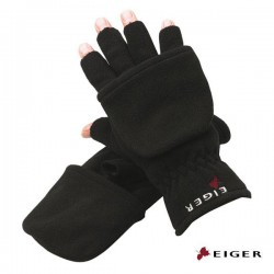Eiger Fleece Gloves Combi Black M