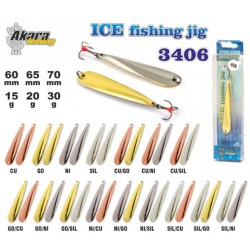 «Ice Jig» 3406 (vert., 60 mm, 15 g, colour: Ni/Go)