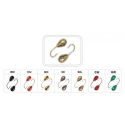 Mormishka «DROP» Nr. 12  (2.5 mm, 0.24 g, colour: SIL)