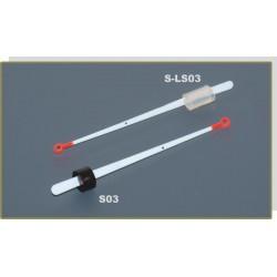 Quiver tip AKARA S 03 lavsan (rubber fixation, 80 mm, rigidness: 0,25, load: 0,25 - 0,60 g)