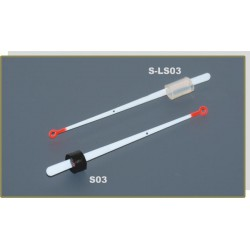 Quiver tip AKARA S-LS 03S lavsan (silicone fixation, 80 mm, rigidness: 0,25, load: 0,25 - 0,60 g)
