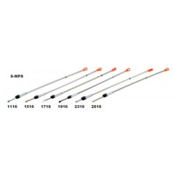 Quiver tip AKARA S-MPS 112 metallic, w/spring (silicone fixation, 160 mm, load: 0,80 - 2,50 g)