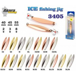 Winter lure «Ice Jig» 3405 ( 55 mm, 8 g, colour: NI/GO)