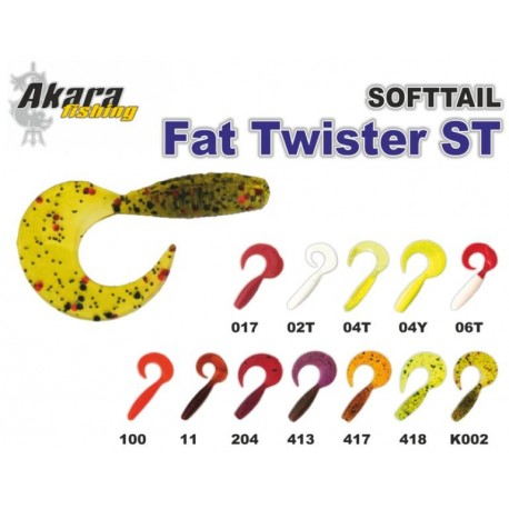 «Fat Twister ST» (25 mm, colour 204, pack. 12 item)