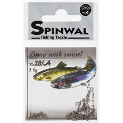 Spinwal Snap with swivel size 20A 10pcs