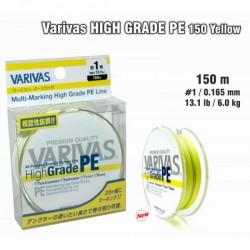 VARIVAS «High GRADE» PE yellow - 1.0/0,165mm