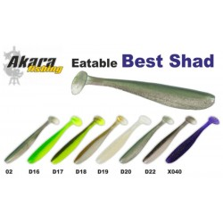 AKARA SOFTTAIL Eatable «Best Shad» (90 mm, colour D16,  4 item)