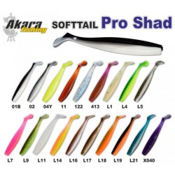 Eatable «Pro Shad» (90 mm, colour 01B,  3 item)