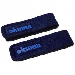 Okuma Neopren Rod Straps M 2pcs 24cm Blue