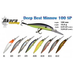 AKARA«Deep Best Minnow» 100 SP (16 g, 100 mm, colour A79)