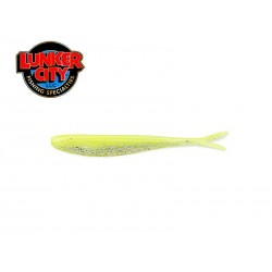 "2.5"" FIN-S FISH - CHARTREUSE SILK ICE 20 pcs."