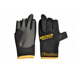 NEOPRENE TITANIUM KEITECH FISHING GLOVES LL
