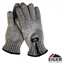 Eiger Knitted Glove w/Zipper Melange L