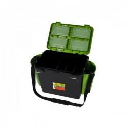 HELIOS Fishbox 19l madal 500x320x255mm roheline/must max.130kg