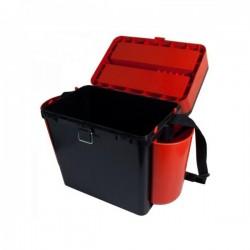 Kalastuskast HELIOS Fishbox 19l kõrge 500x320x255mm oranz/must max.130kg