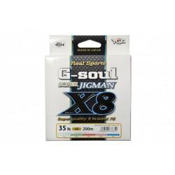 YGK Gsoul Jigman X8 200m 1,0 0.165mm 9.1kg