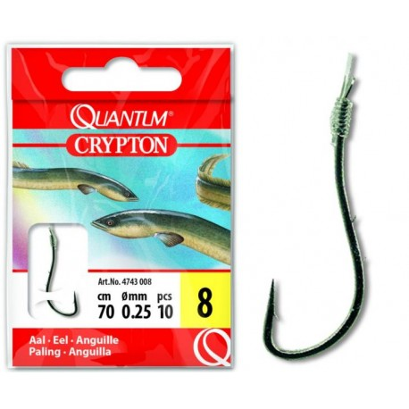 Crypton Aal Vorfachhaken nickel Nr.2 0,30mm 70cm 10x