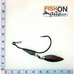 Ofset hook with tungsten sinker 3,5g kablys Japan 4/0