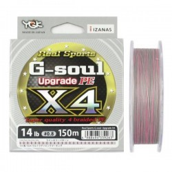 YGK Gsoul X4 Upgrade PE 150m 0,8 12,0lb 0.15mm 6.3kg