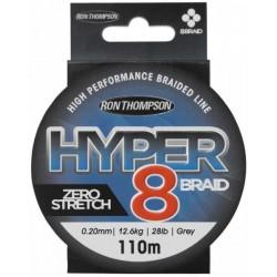 R.T. Hyper 8-Braid 110m 0.15mm 9.0kg Grey