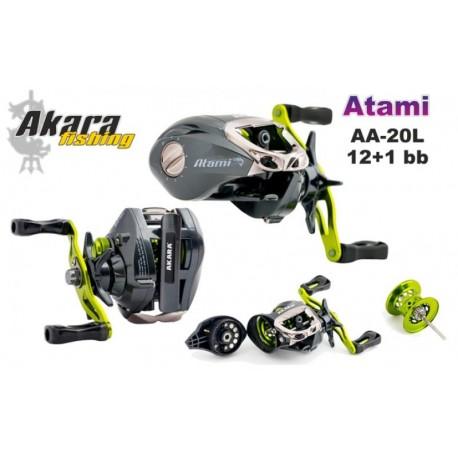 Bait casting reel AKARA «Atami» AA-20 (12+1 bb, 0,12/130 mm/m, 6,3:1) for left hand