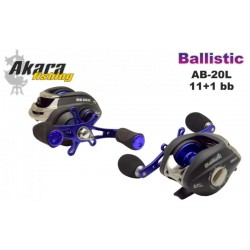 Bait casting reeel AKARA «Ballistic» AB-20 (11+1 bb, 0,25/160 mm, 6,3:1) for left hand
