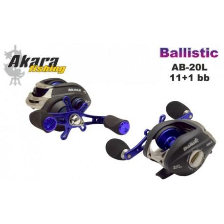 Bait casting reeel AKARA «Ballistic» AB-20 (11+1 bb, 0,25/160 mm, 6,3:1) for left hand