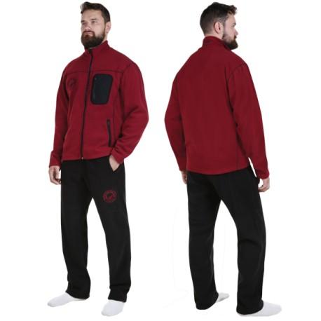 Fleece suit RoyalFish (claret/black) M