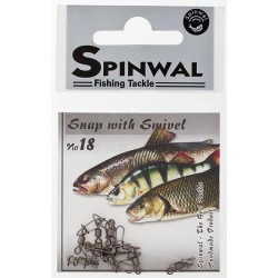 Spinwal Snap with swivel size 18 10pcs