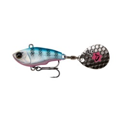 SG Fat Tail Spin 6.5cm 16G Sink Blue Silver Pink